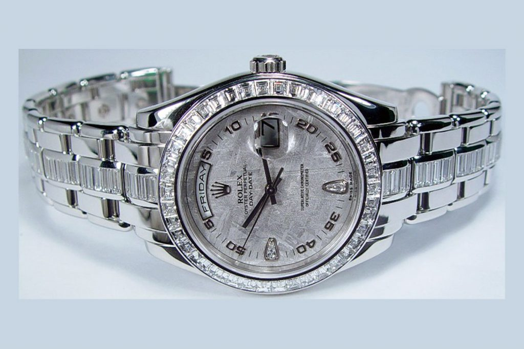 Rolex Platinum Diamond Pearlmaster